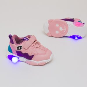 adidasi roz usori cu led