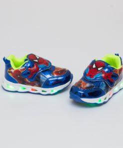 adidasi spider man albastri cu led 2
