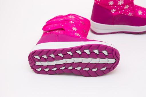 cizme roz din fas impermeabile