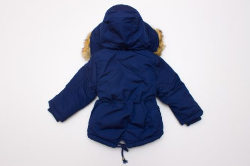 geaca albastra parka pentru copii