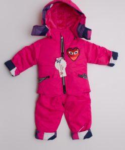 costum schi roz pentru copii