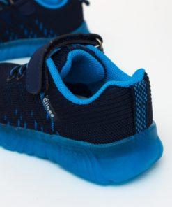 adidasi albastri din panza cu led
