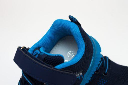adidasi albastri cu led din panza pentru copii