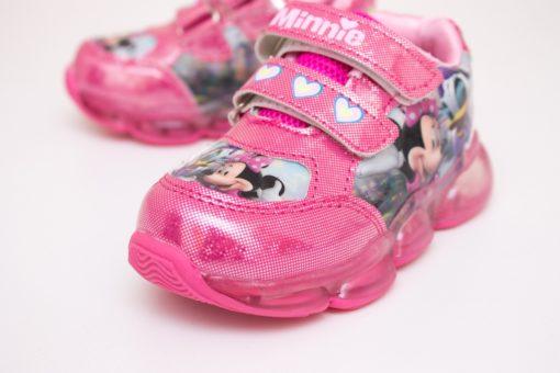 adidasi roz cu led cu arici pentru copii