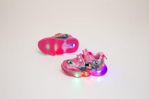 adidasi roz cu led pentru copii