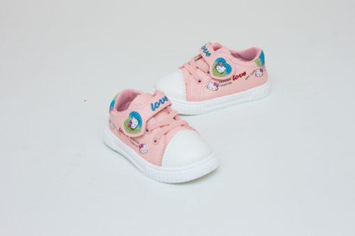 tenisi roz kitty pentru fete