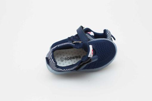adidasi bleumarin cu led din panza pentru copii