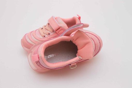 adidasi roz cu led si arici pentru copii