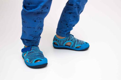 sandale bleumarin din panza pentru copii