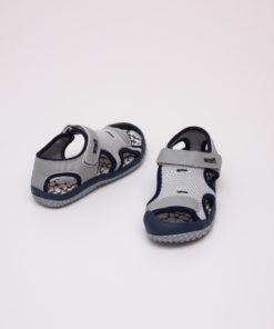 sandale copii - gri din panza cu arici 1