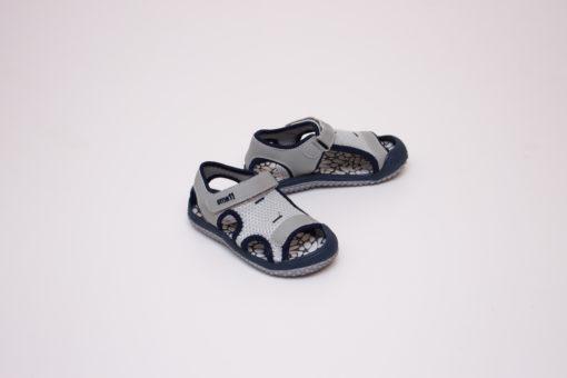 sandale copii - gri din panza cu arici 2