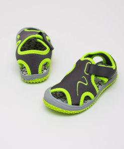 sandale gri din panza pentru copii