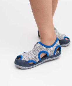sandale gri din panza pentru plaja