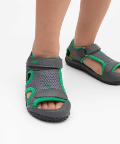 sandale gri usoare din panza pentru copii