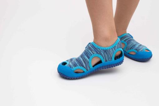 sandale panza copii albastre