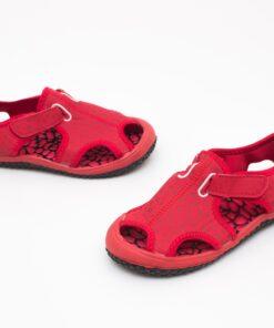 sandale pentru copii - sandale rosii din panza