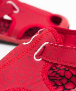 sandale pentru copii - sandale rosii din panza 1