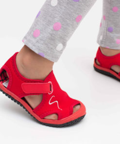 sandale copii rosii din panza