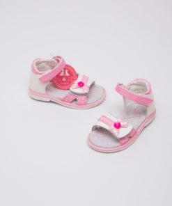 sandale albe elegante pentru fete 4