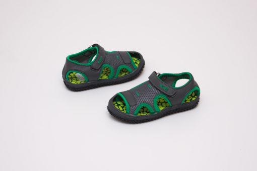 sandale verzi din panza pentru copii