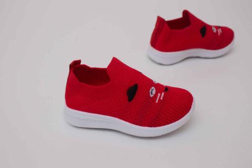 adidasi rosii din panza pentru copii