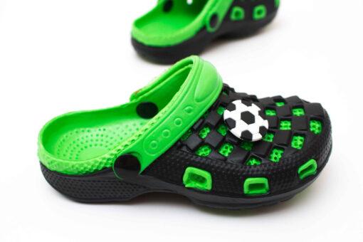 papuci crocs verzi