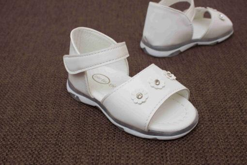 sandale albe cu led pentru copii