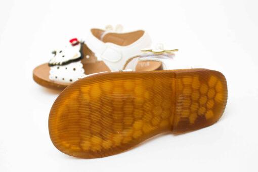 sandlute albe pentru fete