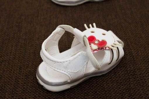 sandale albe kitty