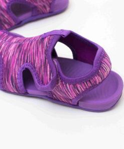 sandale copii confortabile mov din panza