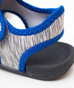 sandale copii - gri din panza