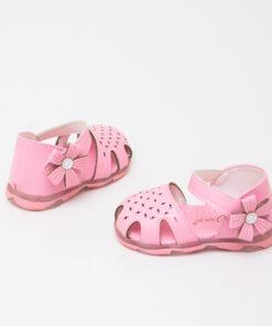 sandale roz cu leduri si arici