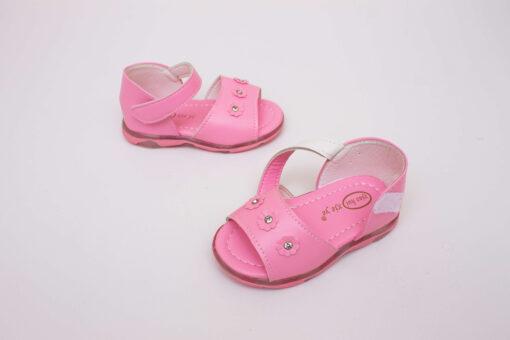sandale roz cu led si arici