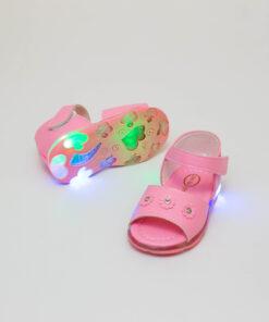 sandale roz cu led