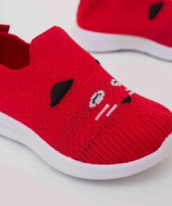 tenisi flexibili rosii pentru copii