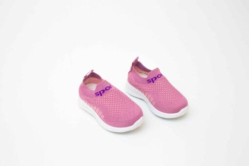 tenisi roz din panza pentru copii