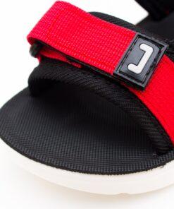 sandale cu bretele rosii