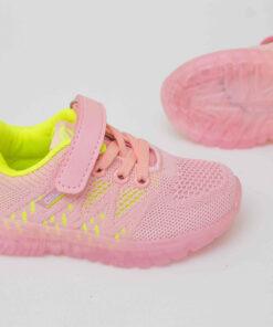 adidasi panza roz cu led pentru fete