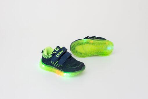 adidasi panza verzi cu led pentru baieti