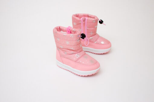 cizme roz cu stelute imblanite pentru copii
