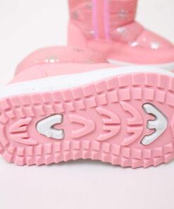 cizme roz cu stelute imblanite pentru fete