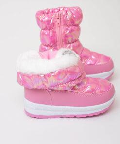 cizme roz lucios pentru copii fete