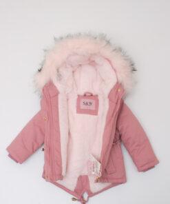 geaca roz copii