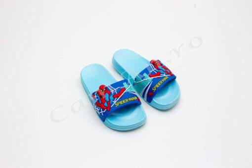 papuci albastri baieti spider