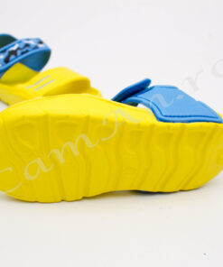 sandale galbene din spuma pentru copii
